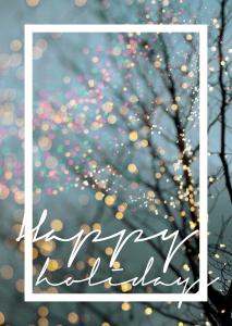 Het team van #VeranoFest wenst je fijne feestdagen!